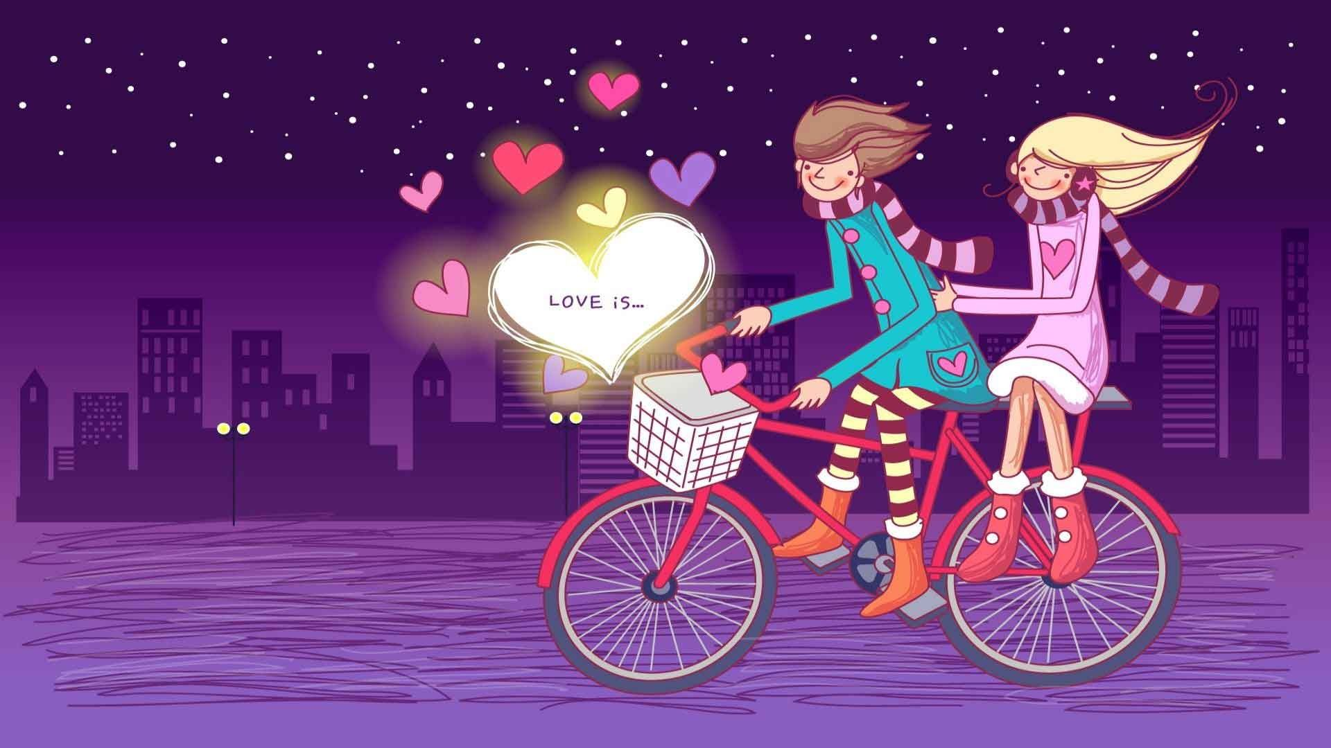 Lovely Cartoon Couple Android Wallpapers 960x800 Hd: Download Wallpaper Of Love Cartoons HD
