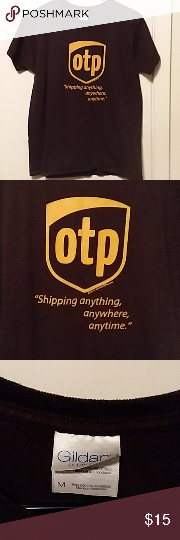 OTP, UPS Inspired Shirt One True Pairing shirt stylized like
