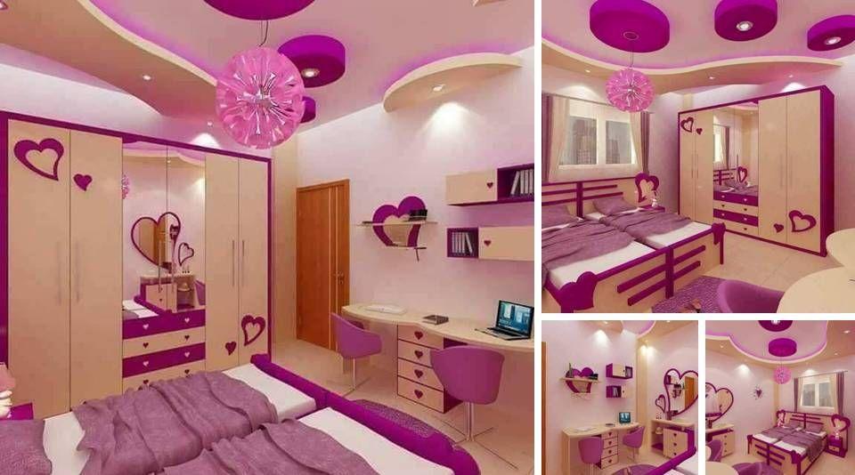 Purple Toddler Girl Room Design With 2 Beds Girl Room Girls