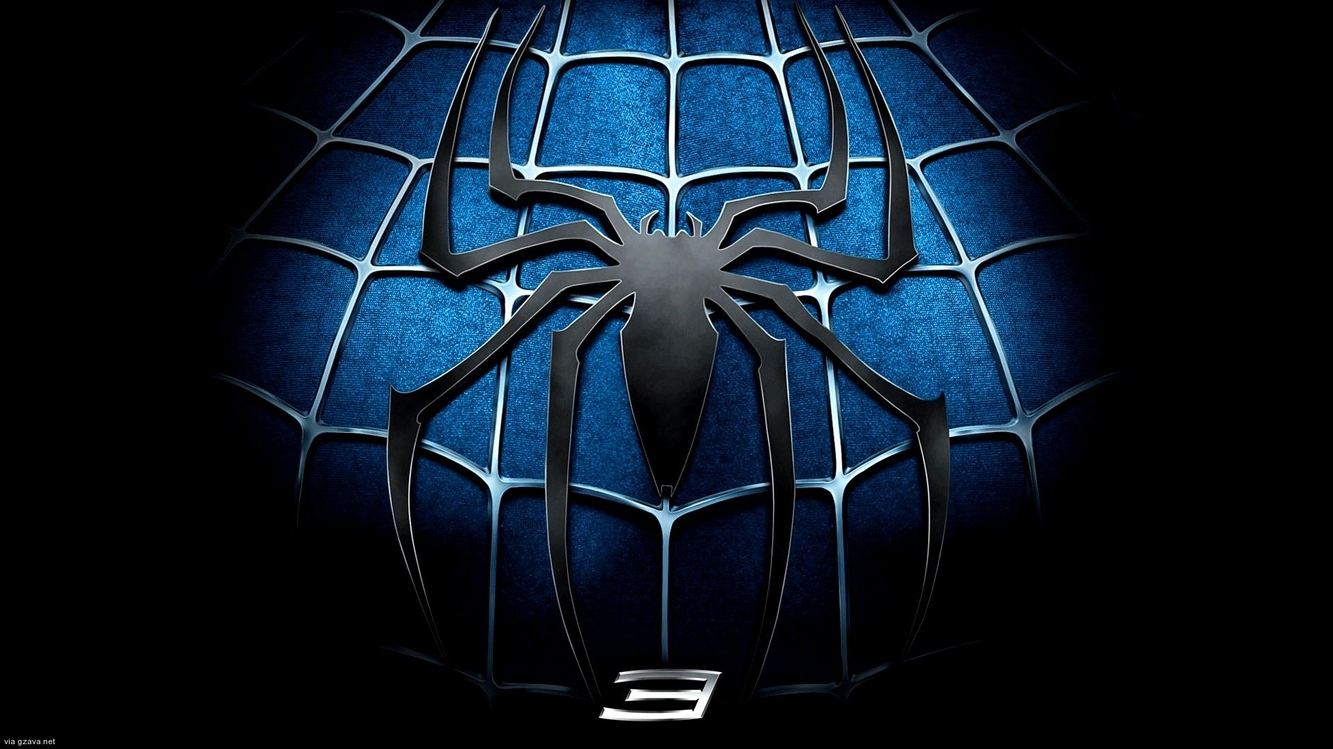 spiderman 3 download wallpaper logo Pahlawan super