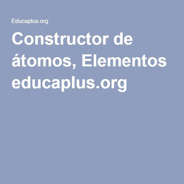Constructor de tomos elementos educaplus chemistry constructor de tomos elementos educaplus urtaz Gallery