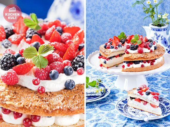 Kostliche Kuchen Und Torten Mit Beeren Kuchen Und Torten Kuchen Und Torten Rezepte Bienenstich Rezept