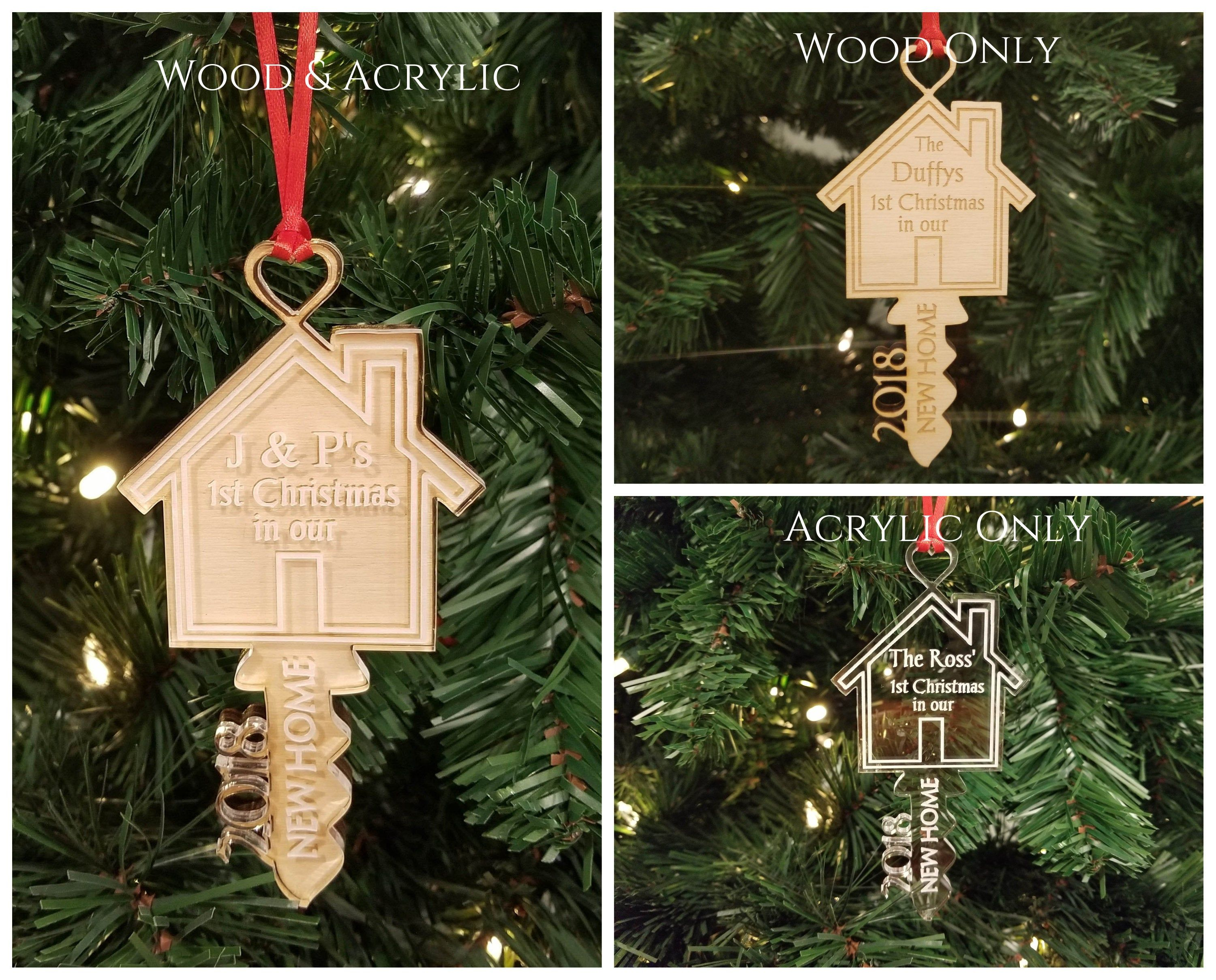 Our New Home Key Ornament New Home Owner Gift Idea Etsy In 2020 Personalized Christmas Ornaments House Ornaments Christmas Ornaments