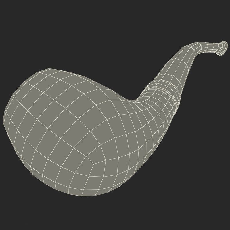 3d smoking pipe 4 model | Topology in 2019 | Pipes, Smoke, Model