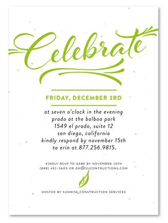 Corporate Event Invitations ~ Modern Script | Business ...