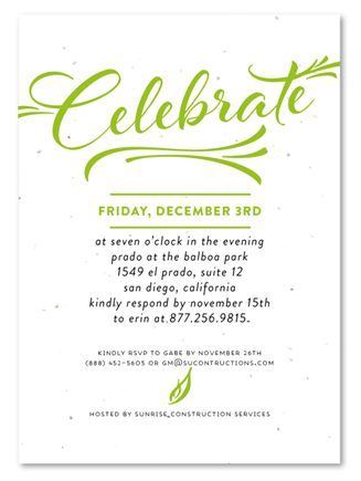 Corporate event invitations modern script business printing corporate event invitations modern script by green business print stopboris Gallery
