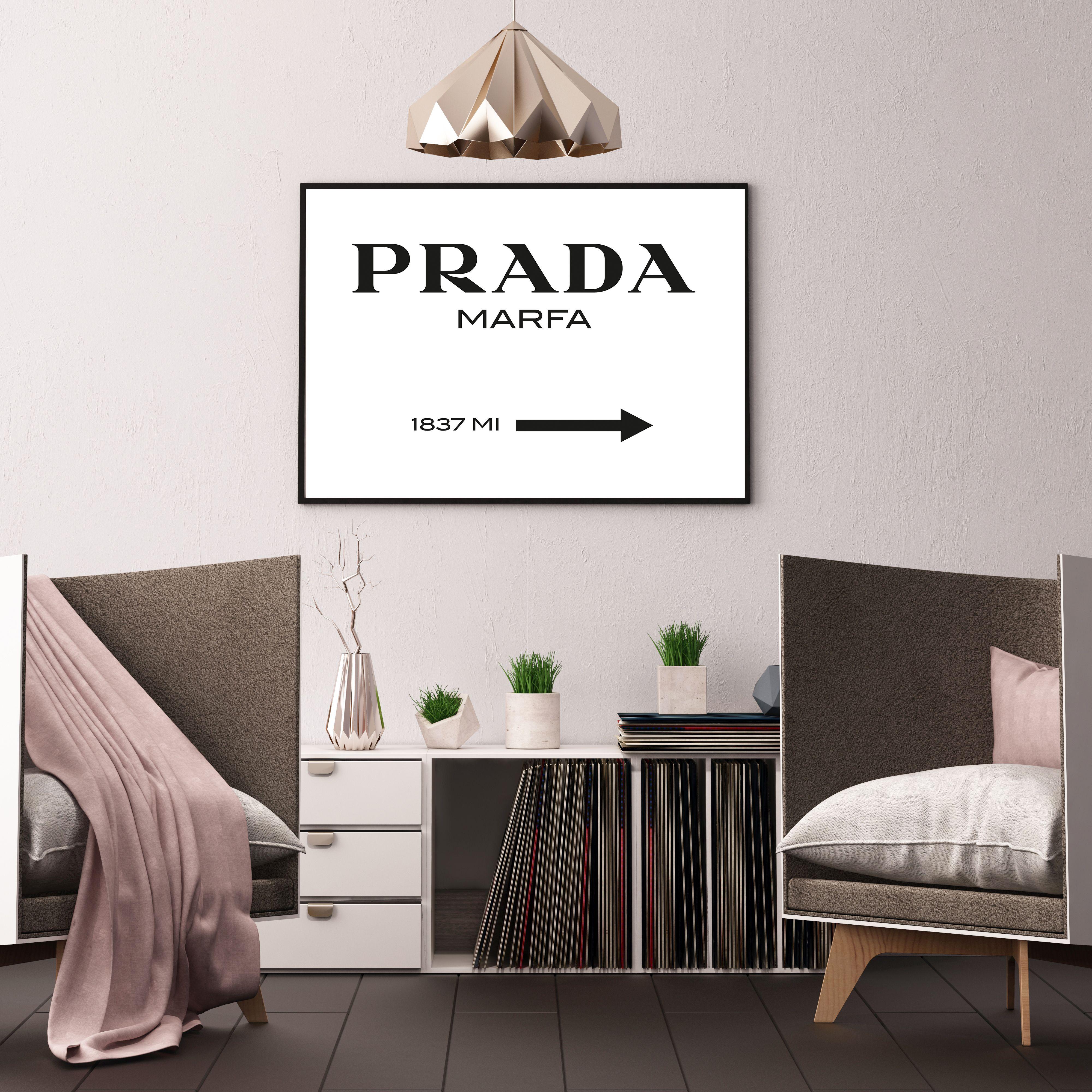 Prada Marfa Framed Art Print On Society6 Perfect Designer Piece For The Fashion Forward Interior Decorators Interior Interior Styling Prada Marfa