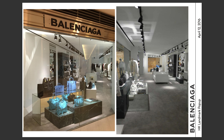 08857671ef3b Balenciaga Popup in Hong Kong Landmark - Alphacl Contracting Limited ...