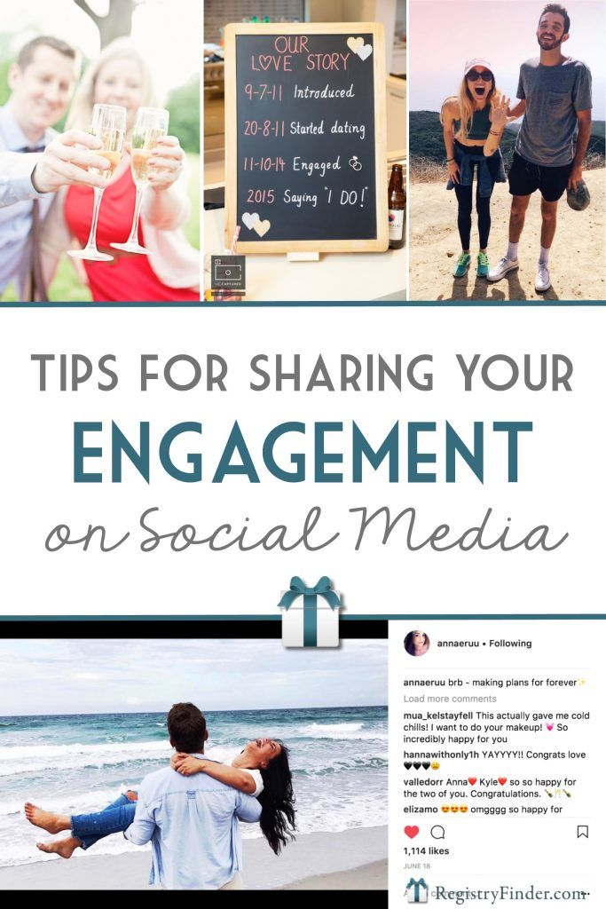Tips For Sharing Your Engagement On Social Media Creative Engagement Announcement Engagement Announcement Social Media Engagement