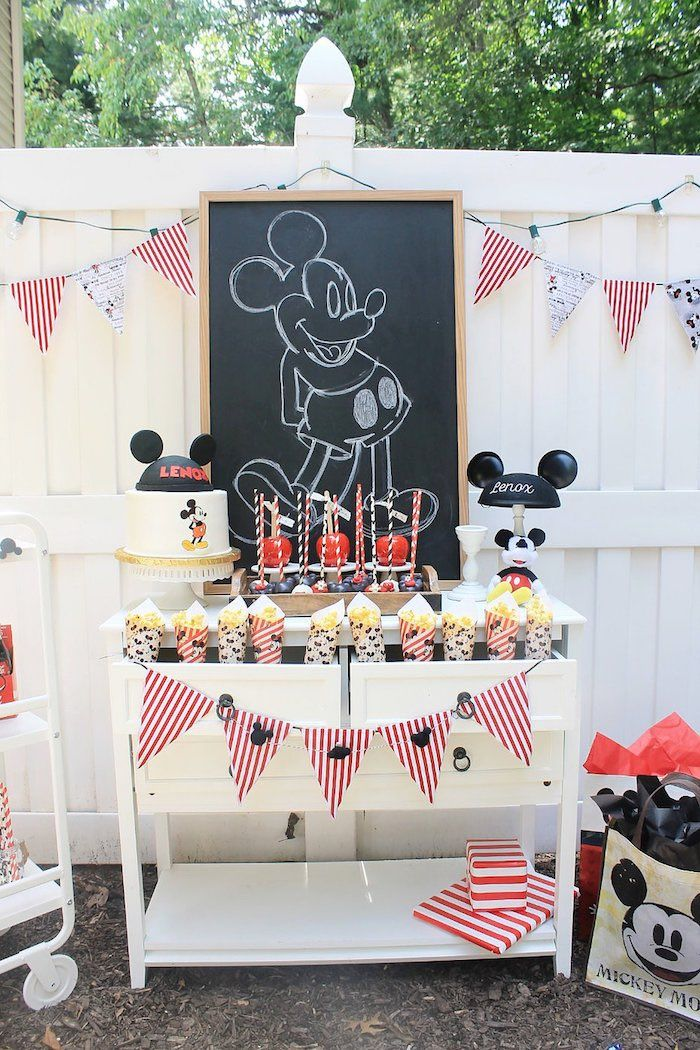 Vintage Mickey Mouse Birthday Party | Kara's Party Ideas #mickeymousebirthdaypartyideas1st