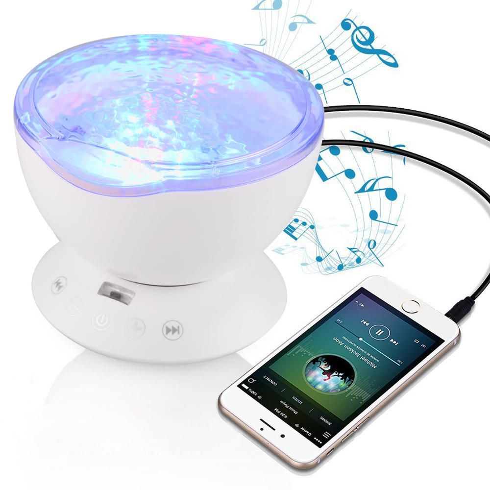 Access Control Access Control Kits Loyal Remote Control Multicolor Ocean Wave Projector Nightlight Baby Lamp With Mini Music Player Fit For Any Holiday Party Decorations