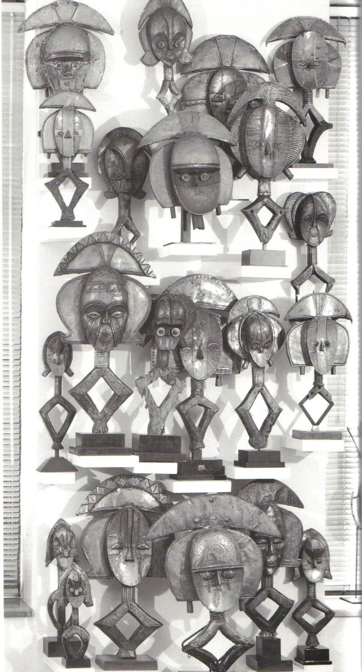 STOCK PHOTO: The Arman Collection Kota and Mahongwe figures - RAND AFRICAN ART. GREAT illustration.