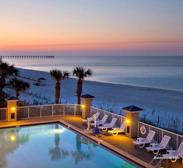 Beachfront Pool At Holiday Inn Club Vacations In Panama City Beach Florida Panama City Beach Fl Panama City Beach Vacation
