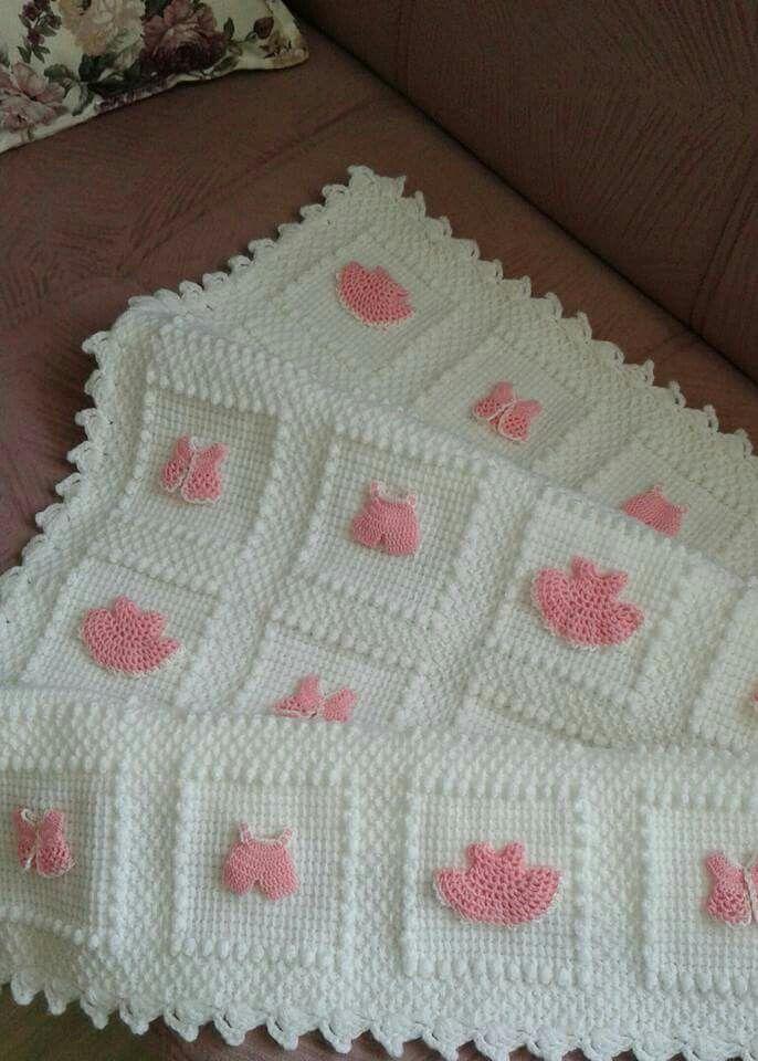 Плед малышке | Decken | Pinterest | Babydecken, Häkelmuster und Deckchen