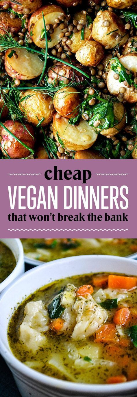 26 Budget Friendly Dinners With No Meat Or Dairy Budget Friendly Dinner Whole Food Recipes Vegetarian Vegan Recipes