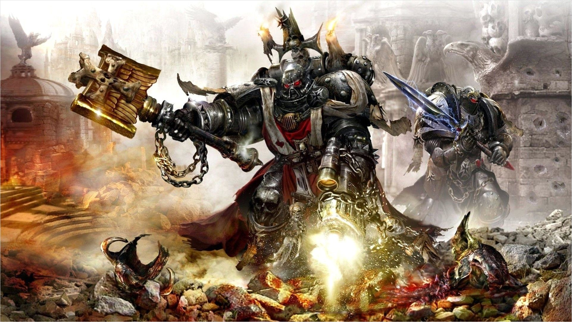 40k Imperial Knights Wallpaper 4k In 2020 Warhammer 40k Warhammer Warhammer Art