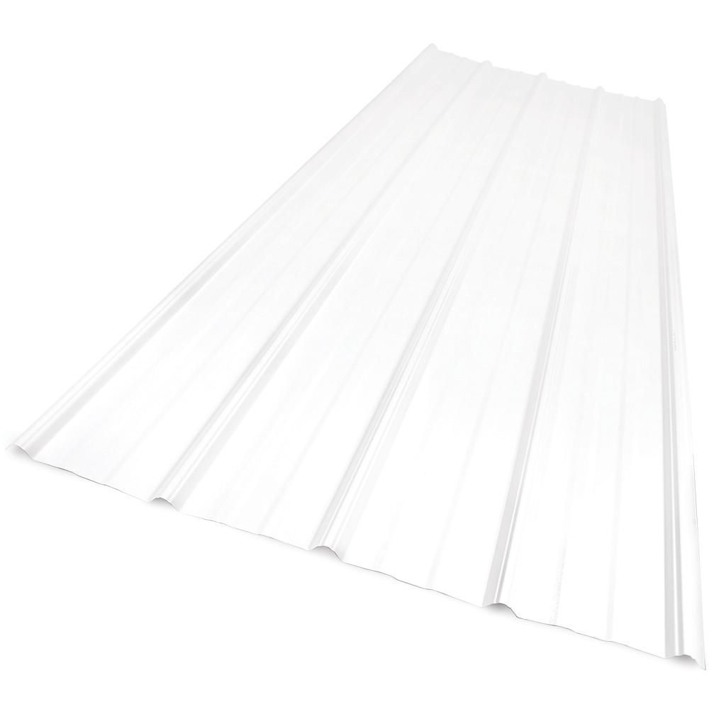 Sunsky 6 Ft 9 In Polycarbonate Roof Panel In Clear Roof Panels Polycarbonate Roof Panels Corrugated Roofing