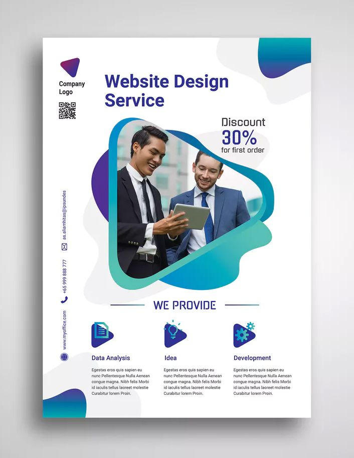Web Design Agency Promo Flyer By Uicreativenet On Web Design Agency Flyer Design Layout Flyer Design Inspiration