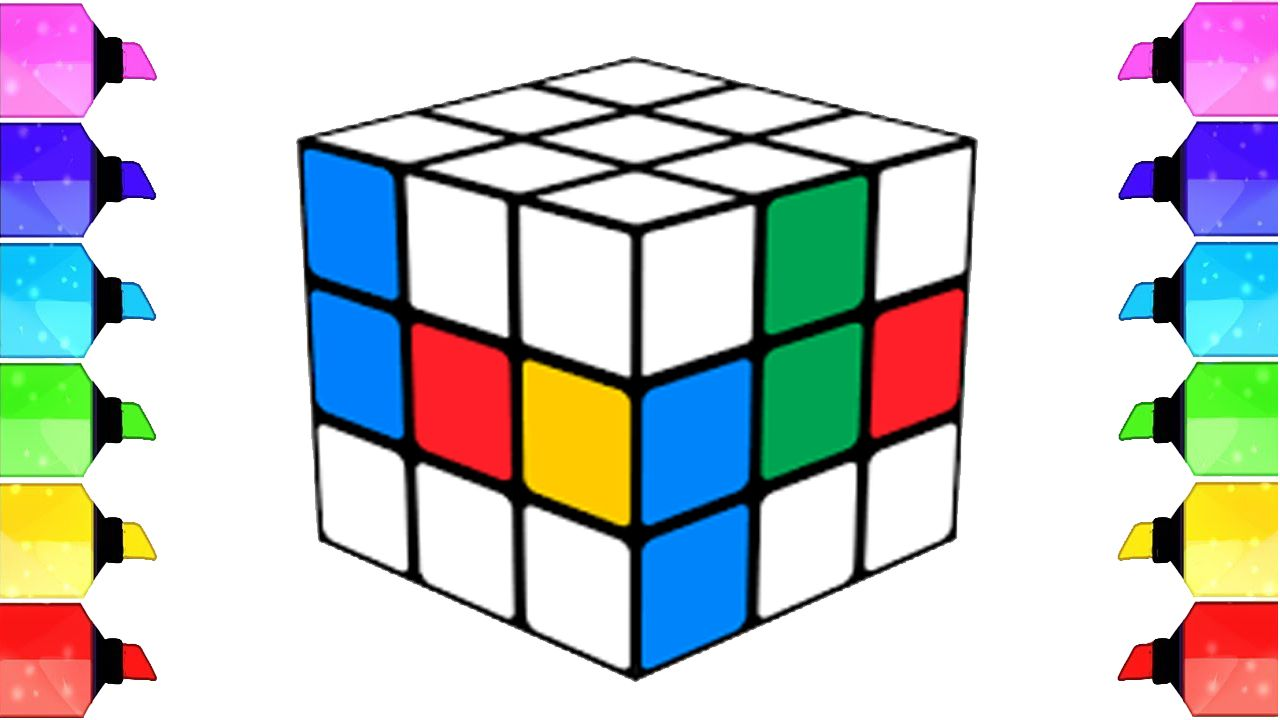 Coloring Rubik S Cube For Kids Drawing Pages To Color For Kids