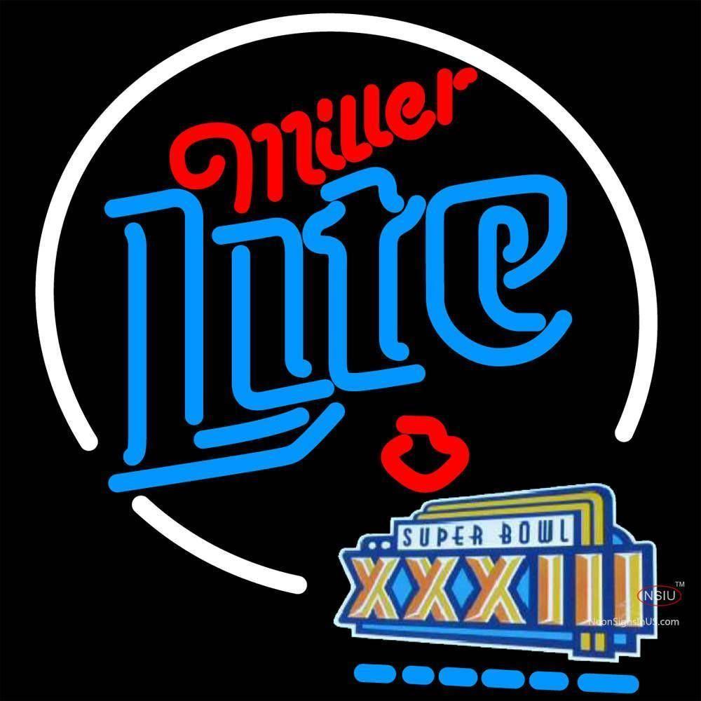 Miller Lite Super Bowl Xiii Neon Beer Sign x | Neon beer