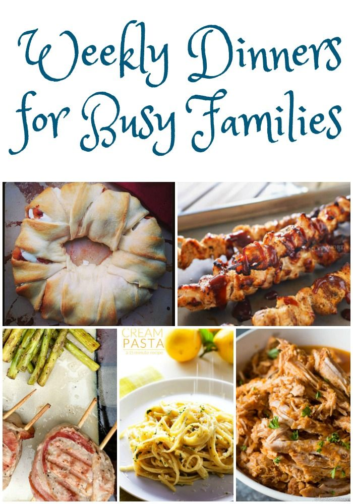 Weekly Dinner Ideas - Must Have Mom - Featured at Home Matters Linky Party 117