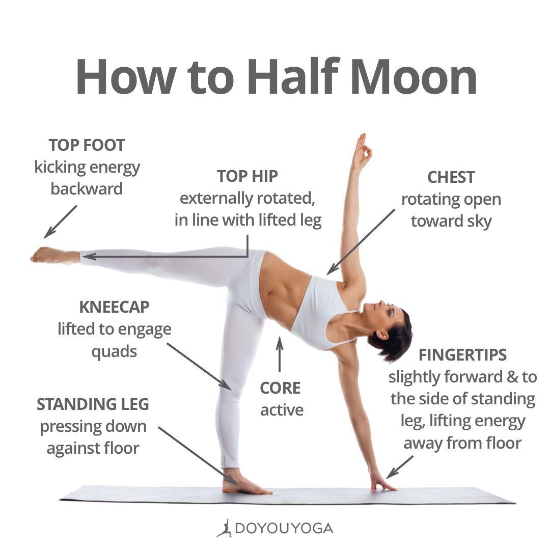 Your Step By Step Guide To Ardha Chandrasana Half Moon Pose Yoga Asanas Yoga Techniques Yoga Tutorial