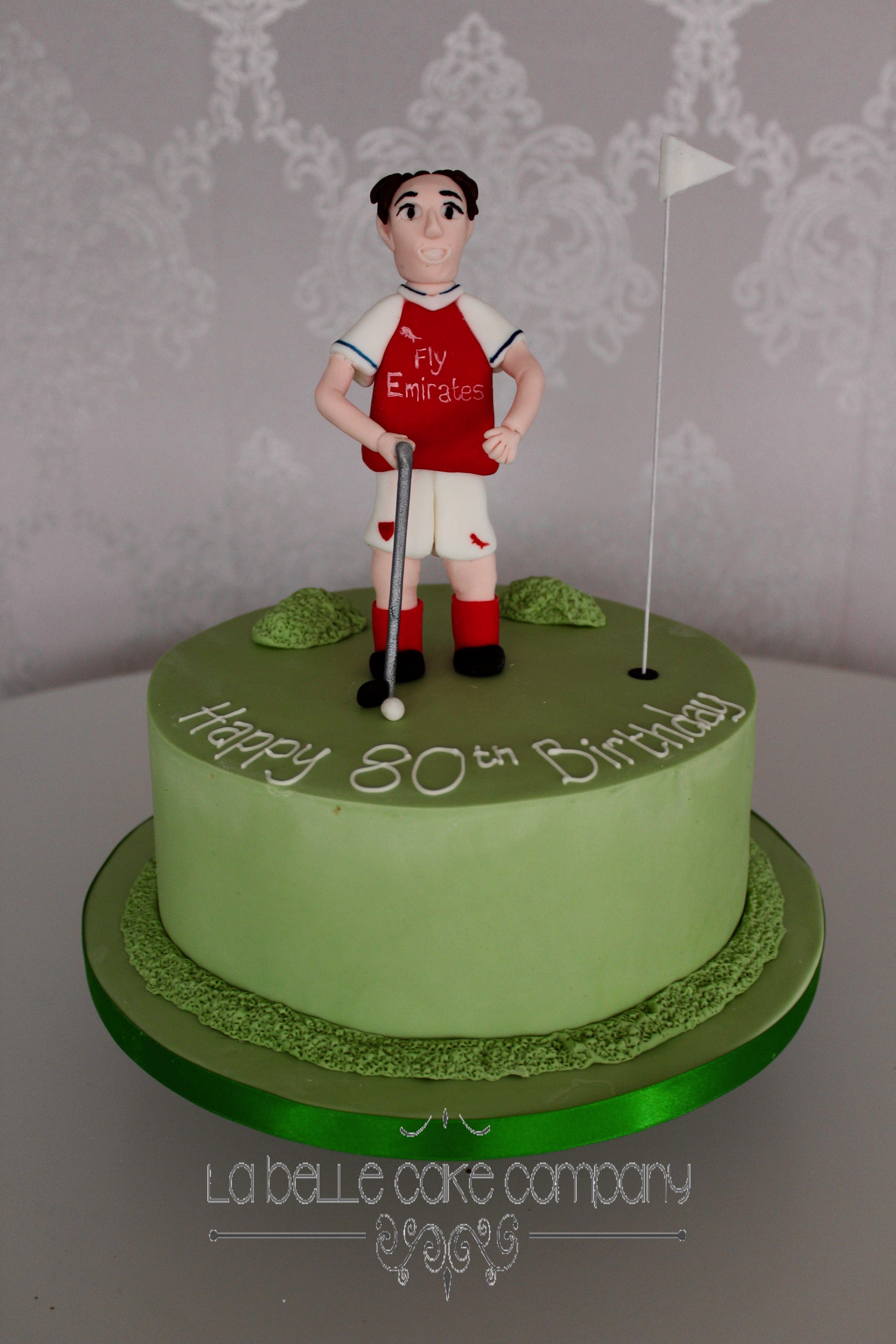 Golf Novelty Birthday Celebration Cake By La Belle Cake Company