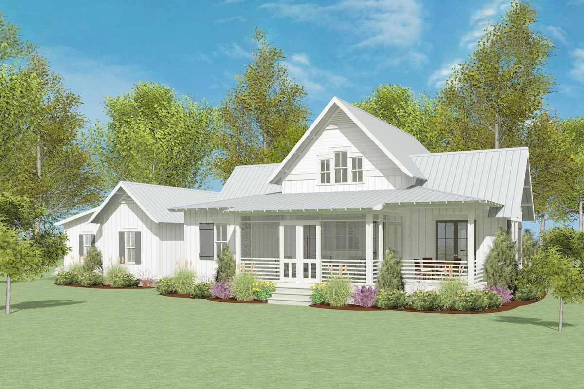 Plan 130025lls Exclusive Modern Farmhouse Plan With