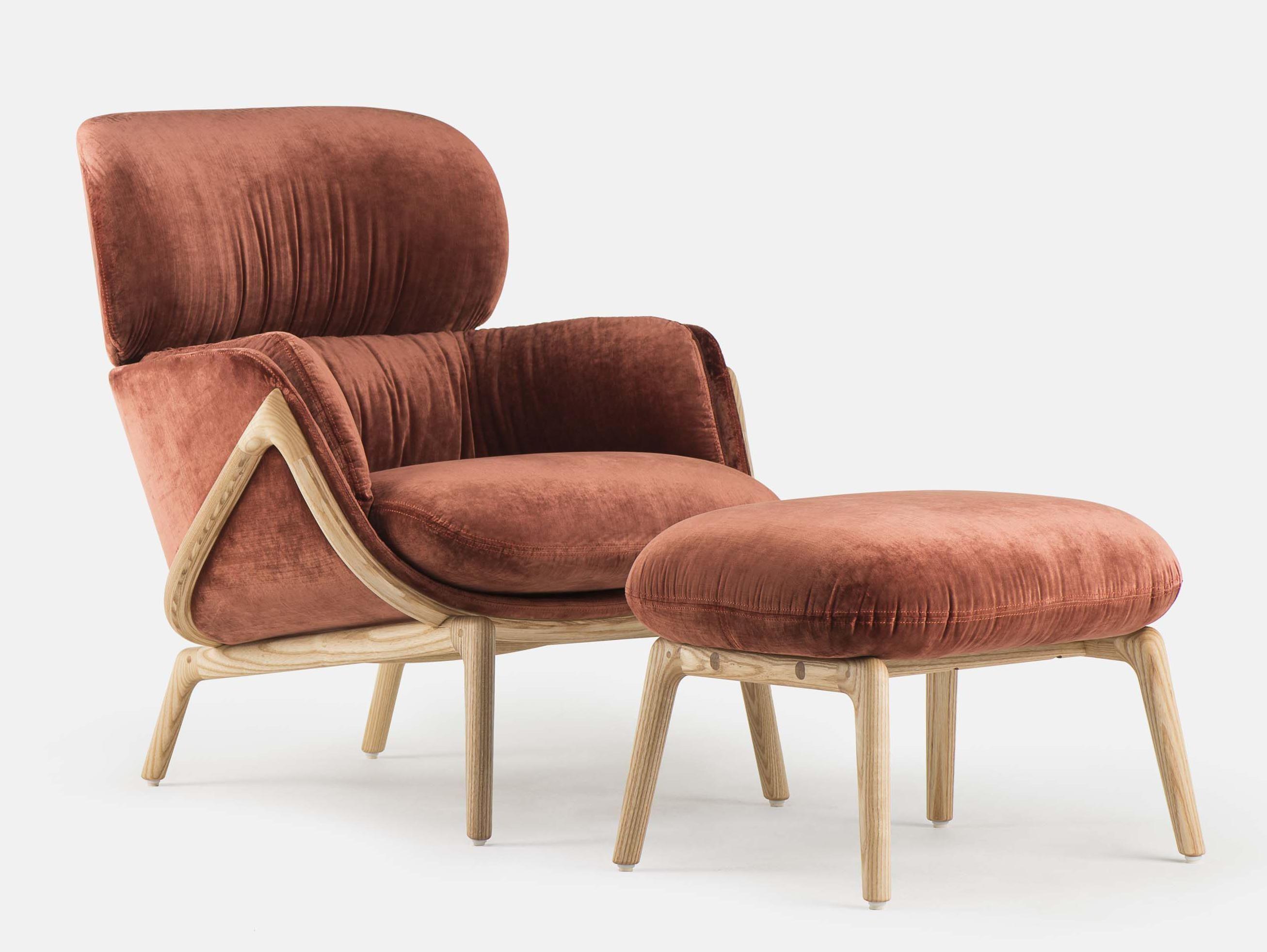 Excellent De La Espada 101O Nino Ottoman By Luca Nichetto Pinks Machost Co Dining Chair Design Ideas Machostcouk
