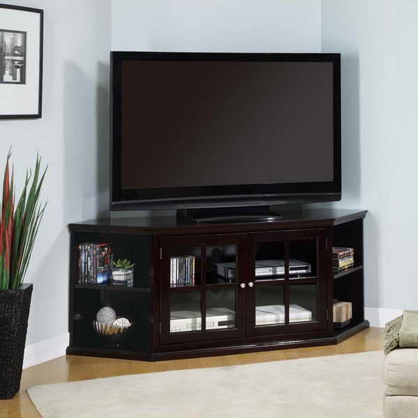 Tv Stands For Small Spaces Wall With Light Blue Home Design