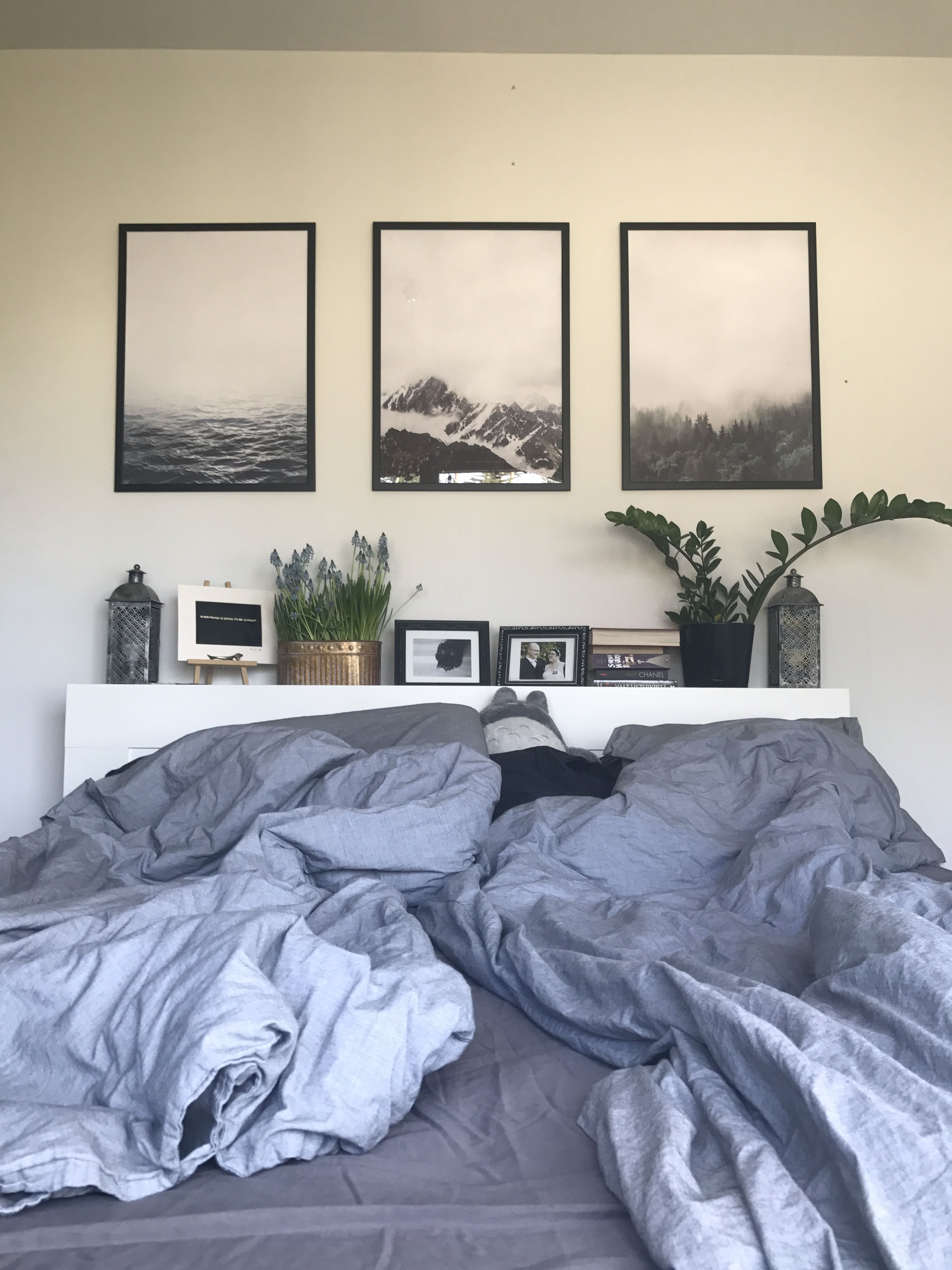 Schilderijen boven bed - Bedroom Inspiration | Pinterest ...