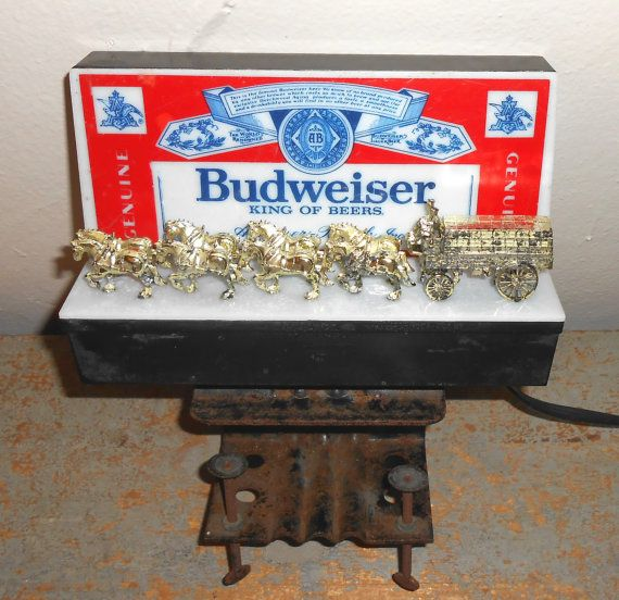 Vintage Bar Light, Budweiser Beer, Anheuser Busch