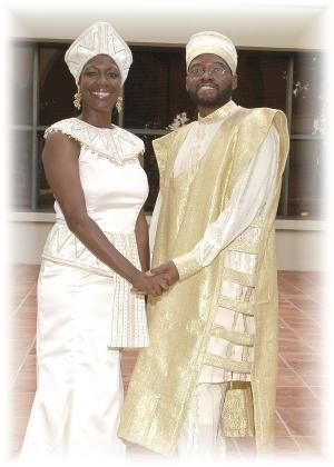 African American Couple Married At Their Afro Centric Wedding