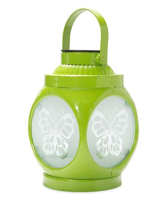 Green Butterfly Shadow-Casting Solar Lantern