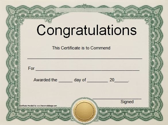 Certificates - Office regarding Free Certificate Templates 17 Best - congratulations certificate
