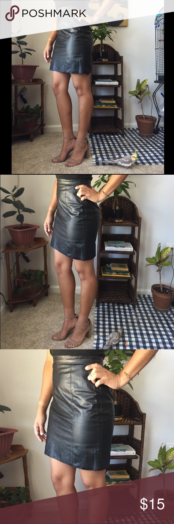 c99d3c5d6dc8 High Wasted Leather Pencil Skirt Authentic vintage leather skirt. The label  says 9/10