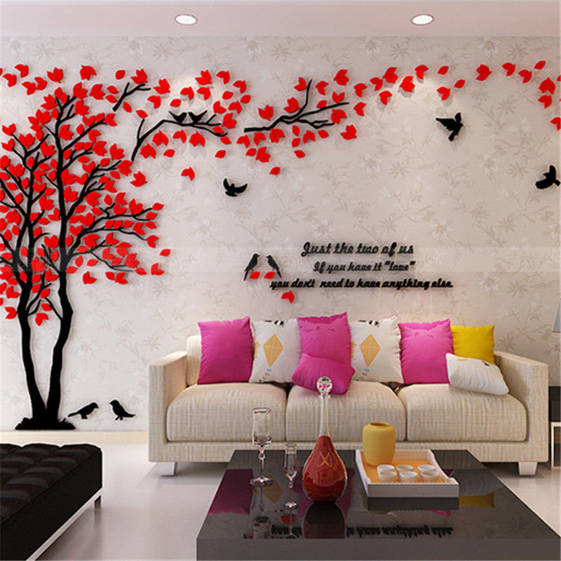14 79 3d Tree Wall Art Stickers Removable Vinyl Decal Mural Tv