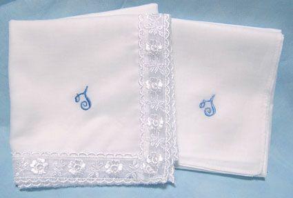 結婚祝いにおすすめ\u003e新郎新婦のイニシャル刺繍入りウェディング