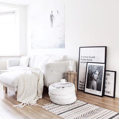 16 ideas para decorar una habitaci n blanca marcos - Cuadros para habitacion ...
