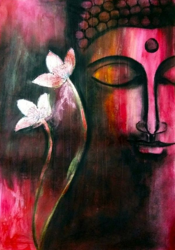 Buda pintura-Calm and peaceful Fine Art Print