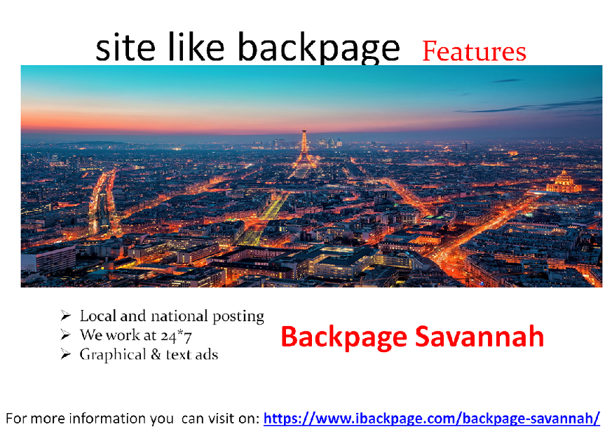 Backpag Savannah Is A Site Similar To A Backpage Also Having The Same Services And Same