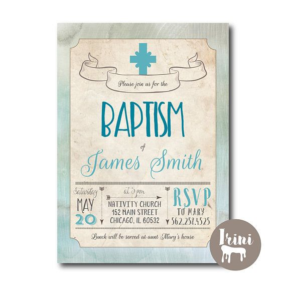 vintage baptism baby invite christening invitation baby baptism