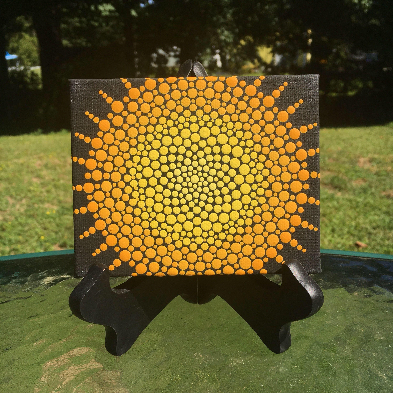 Hand Made Original Dot by Dot Mandalas Symmetrical Polka Dots Hand ...