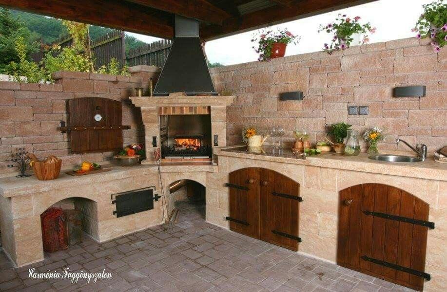 Wooden Cabinet Doors Patio Kitchen Backyard Kitchen Outdoor Kitchen