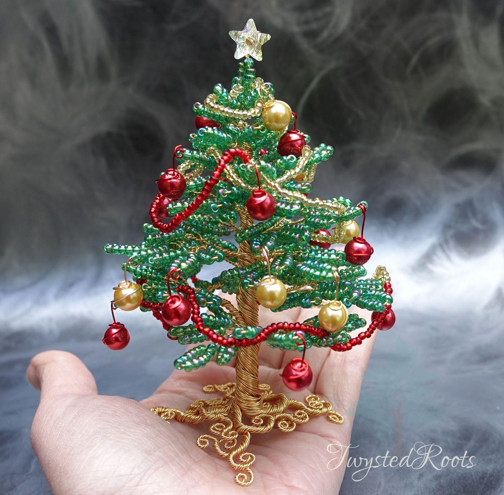 Merry Christmas Tree Christmas Tree Beads Wire Tree Sculpture Tree Sculpture
