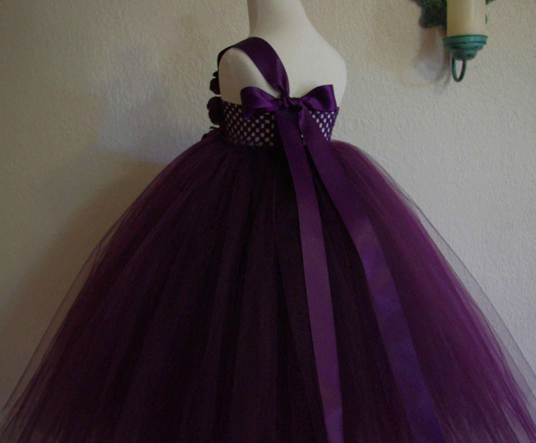 Sugar Plum Flower Girl Dress