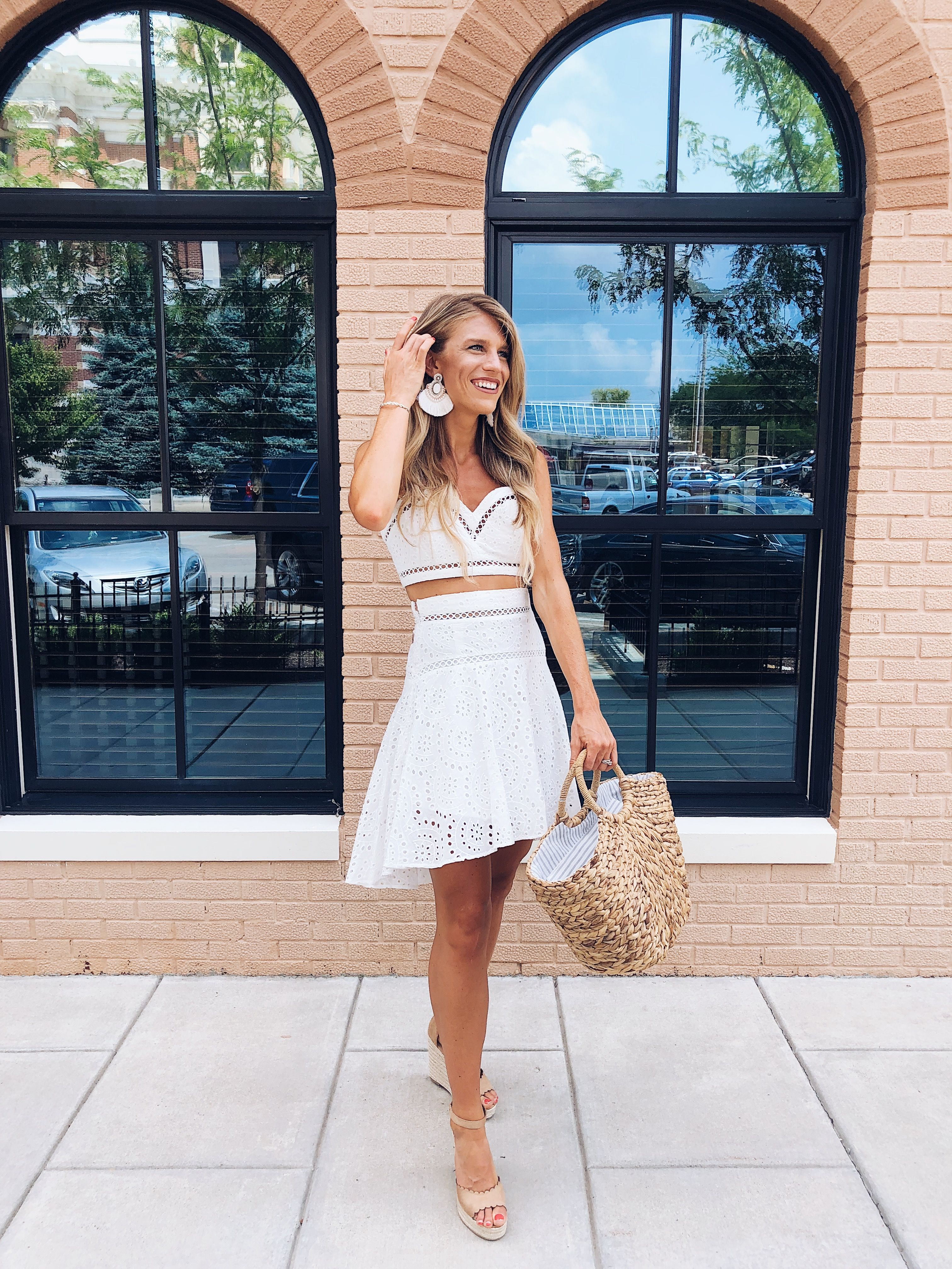The Power Of Prayer Tall Blonde Bell White Crochet Dress Outfits Feminine Skirt [ 4032 x 3024 Pixel ]