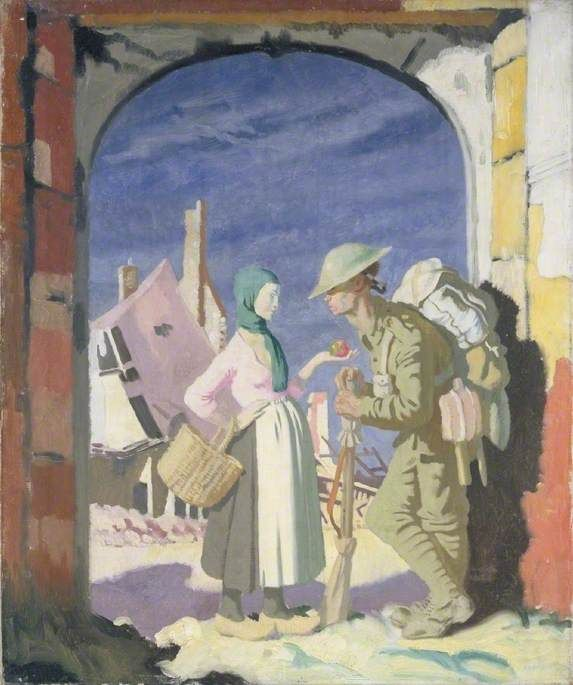 Adam And Eve At Peronne By William Orpen Date Painted 1918 Adam And Eve War Art Art