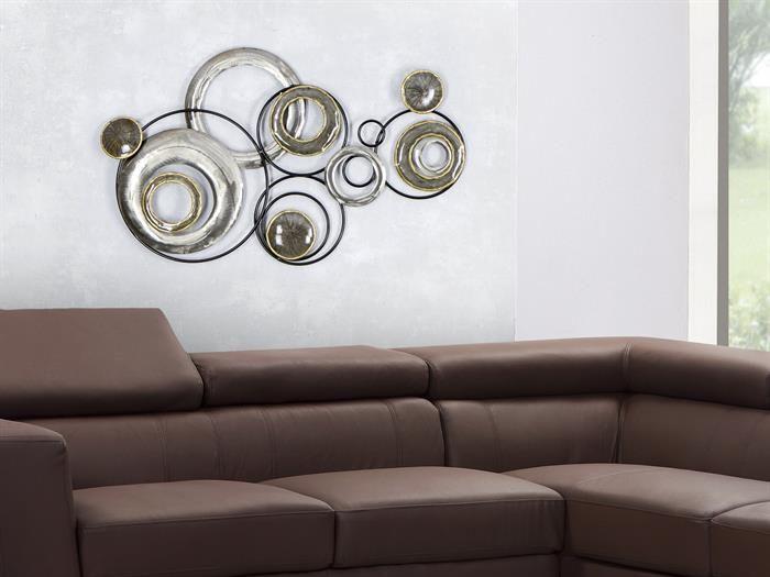 Wanddeko wohnzimmer metall  Formano - WAND-DEKO Design Art - Kreise II aus Metall Breite 78cm ...