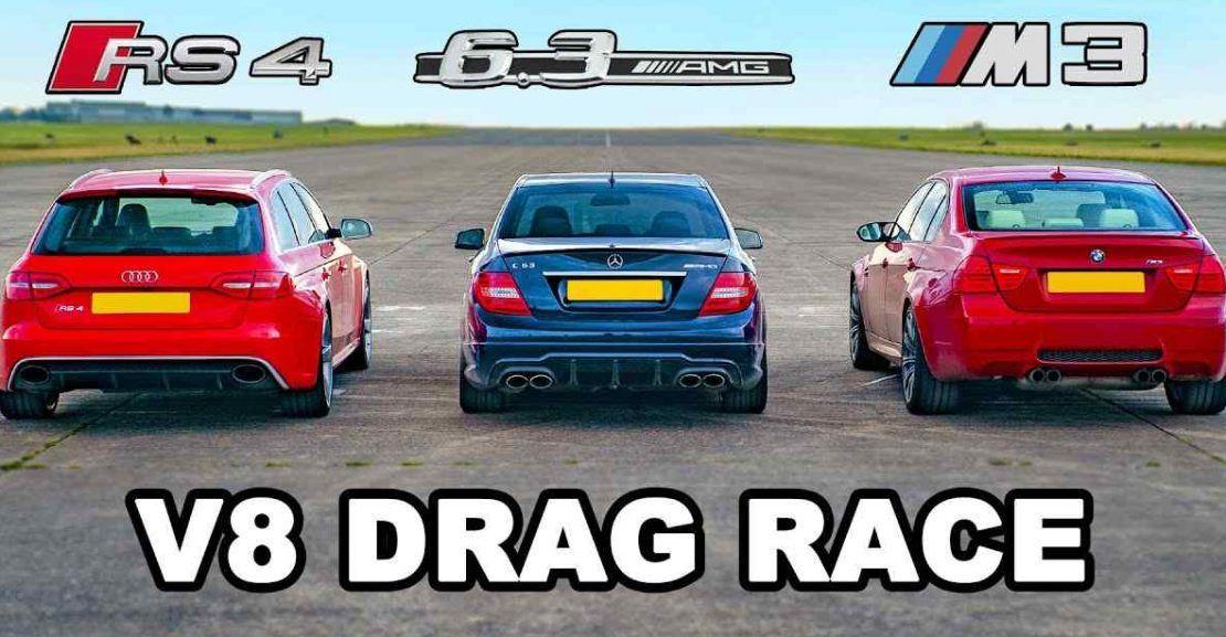 BMW M3 vs AMG C63 vs Audi RS4 Drag Yarış Bmw m3, Audi, Bmw